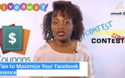 5 Tips to Maximize Your Facebook Presence